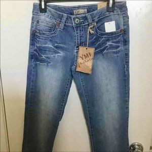YMI cropped straight leg jeans